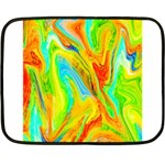 Happy Multicolor Painting Fleece Blanket (Mini) 35 x27 Blanket