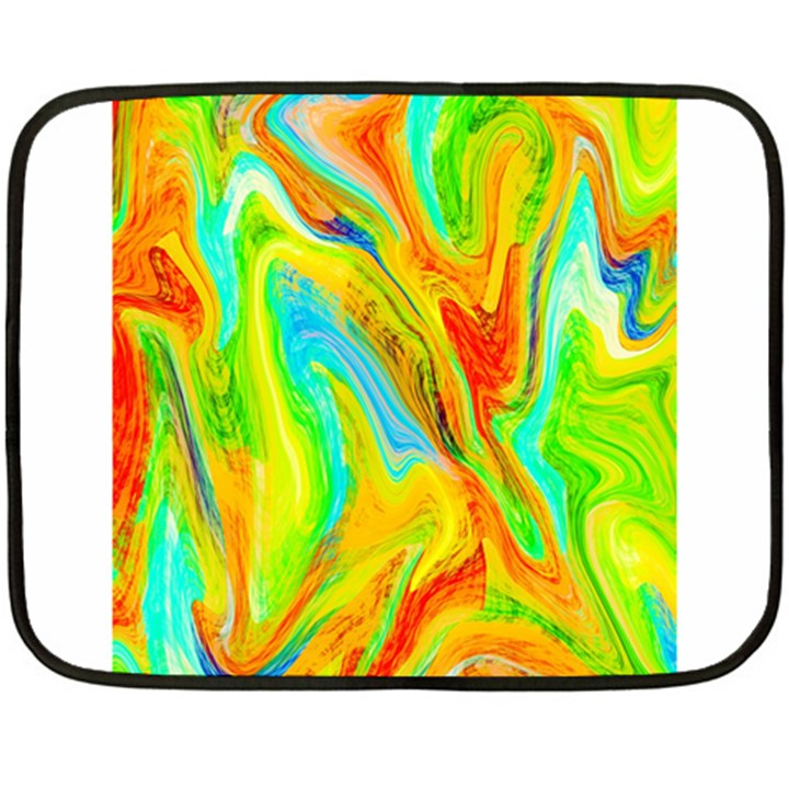 Happy Multicolor Painting Fleece Blanket (Mini)