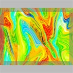 Happy Multicolor Painting Canvas 16  x 12  16  x 12  x 0.875  Stretched Canvas