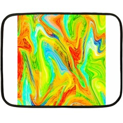 Happy Multicolor Painting Double Sided Fleece Blanket (Mini)