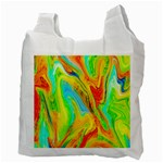 Happy Multicolor Painting Recycle Bag (Two Side)  Back