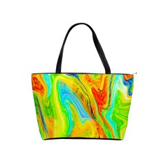 Happy Multicolor Painting Shoulder Handbags