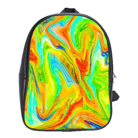 Happy Multicolor Painting School Bags(Large)