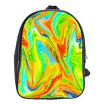 Happy Multicolor Painting School Bags(Large)  Front
