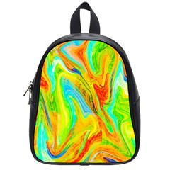 Happy Multicolor Painting School Bags (Small)