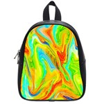 Happy Multicolor Painting School Bags (Small)  Front