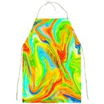 Happy Multicolor Painting Full Print Aprons Front