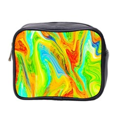 Happy Multicolor Painting Mini Toiletries Bag 2-Side