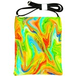 Happy Multicolor Painting Shoulder Sling Bags Front
