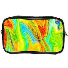 Happy Multicolor Painting Toiletries Bags