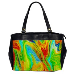 Happy Multicolor Painting Office Handbags