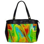 Happy Multicolor Painting Office Handbags Front