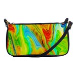 Happy Multicolor Painting Shoulder Clutch Bags Front