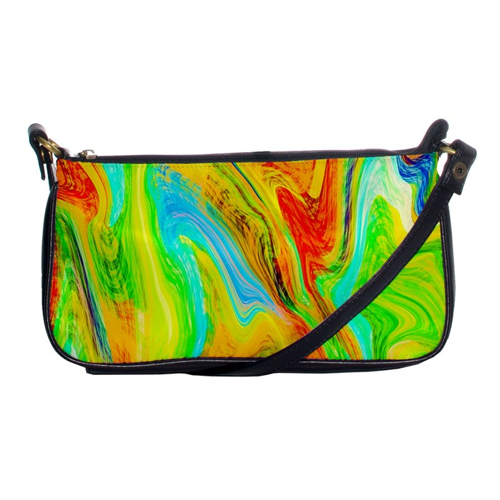 Happy Multicolor Painting Shoulder Clutch Bags