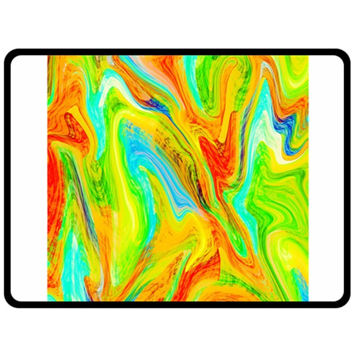 Happy Multicolor Painting Fleece Blanket (Large)
