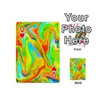 Happy Multicolor Painting Playing Cards 54 (Mini)  Front - HeartQ