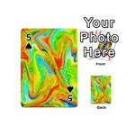 Happy Multicolor Painting Playing Cards 54 (Mini)  Front - Spade5