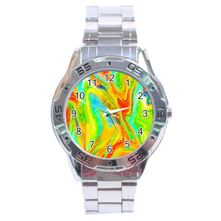 Happy Multicolor Painting Stainless Steel Analogue Watch