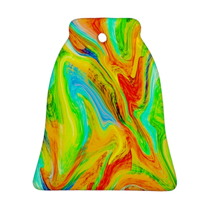 Happy Multicolor Painting Bell Ornament (2 Sides)