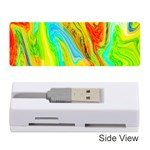 Happy Multicolor Painting Memory Card Reader (Stick)  Front