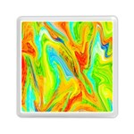 Happy Multicolor Painting Memory Card Reader (Square)  Front