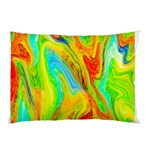 Happy Multicolor Painting Pillow Case (Two Sides) Back