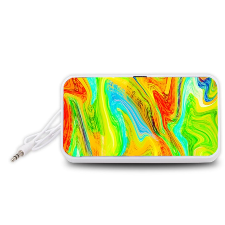 Happy Multicolor Painting Portable Speaker (White)