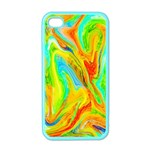 Happy Multicolor Painting Apple iPhone 4 Case (Color) Front