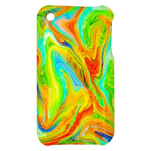 Happy Multicolor Painting Apple iPhone 3G/3GS Hardshell Case
