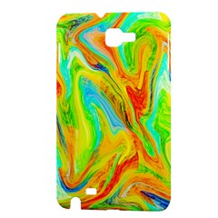 Happy Multicolor Painting Samsung Galaxy Note 1 Hardshell Case