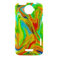 Happy Multicolor Painting HTC One X Hardshell Case