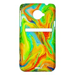 Happy Multicolor Painting HTC Evo 4G LTE Hardshell Case