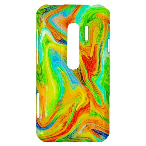 Happy Multicolor Painting HTC Evo 3D Hardshell Case