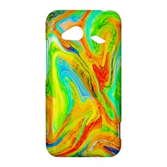 Happy Multicolor Painting HTC Droid Incredible 4G LTE Hardshell Case