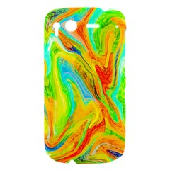 Happy Multicolor Painting HTC Desire S Hardshell Case