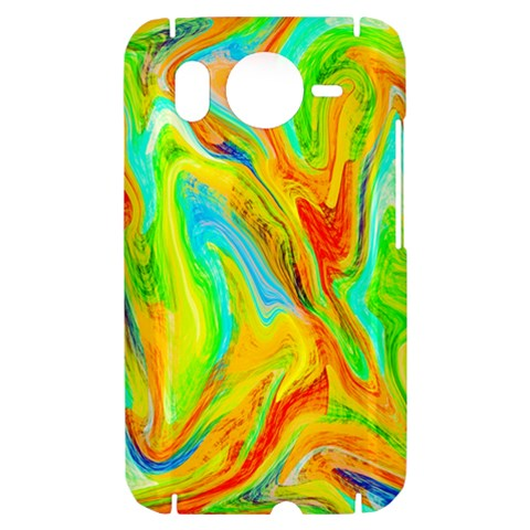 Happy Multicolor Painting HTC Desire HD Hardshell Case