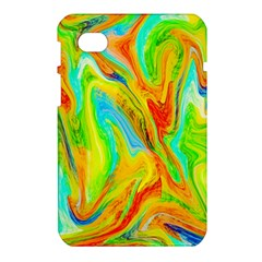 Happy Multicolor Painting Samsung Galaxy Tab 7  P1000 Hardshell Case