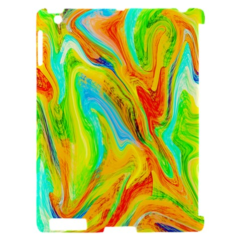 Happy Multicolor Painting Apple iPad 2 Hardshell Case (Compatible with Smart Cover)