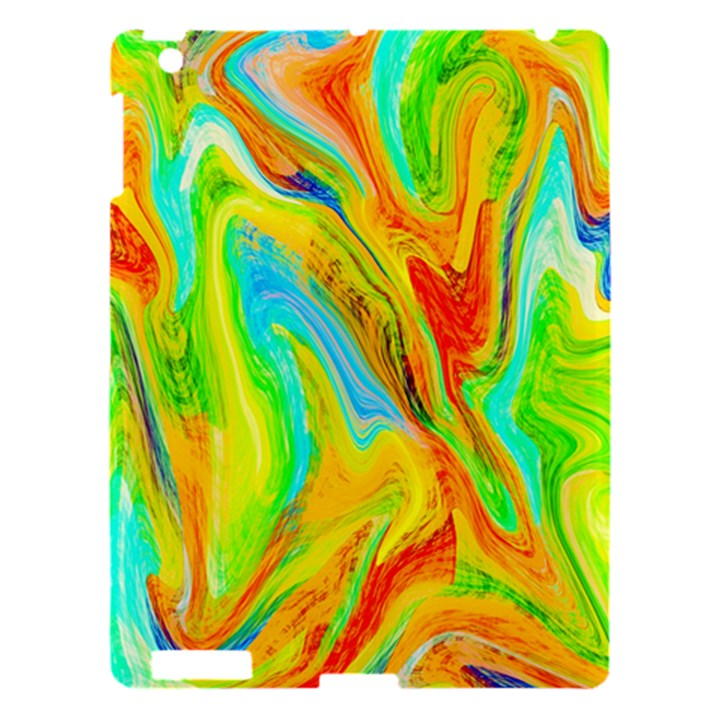 Happy Multicolor Painting Apple iPad 3/4 Hardshell Case