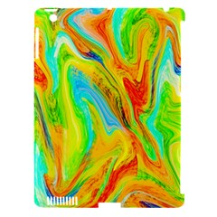 Happy Multicolor Painting Apple Ipad 3/4 Hardshell Case (compatible With Smart Cover)