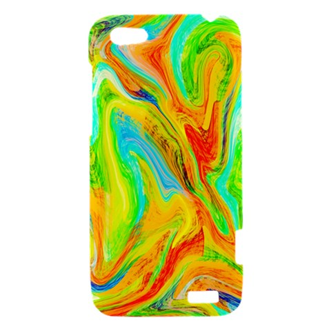 Happy Multicolor Painting HTC One V Hardshell Case