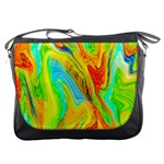 Happy Multicolor Painting Messenger Bags Front