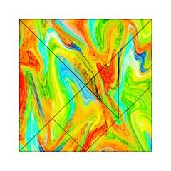 Happy Multicolor Painting Acrylic Tangram Puzzle (6  x 6 )