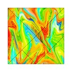 Happy Multicolor Painting Acrylic Tangram Puzzle (6  x 6 ) Front