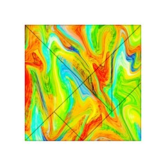 Happy Multicolor Painting Acrylic Tangram Puzzle (4  X 4 )