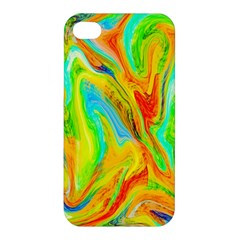 Happy Multicolor Painting Apple iPhone 4/4S Premium Hardshell Case