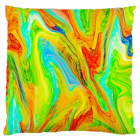 Happy Multicolor Painting Large Cushion Case (One Side)