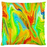 Happy Multicolor Painting Large Cushion Case (Two Sides) Back