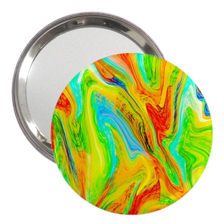 Happy Multicolor Painting 3  Handbag Mirrors