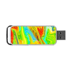 Happy Multicolor Painting Portable USB Flash (One Side)
